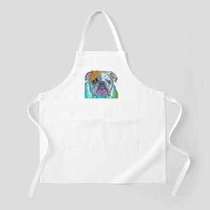 Bulldog in Color BBQ Apron
