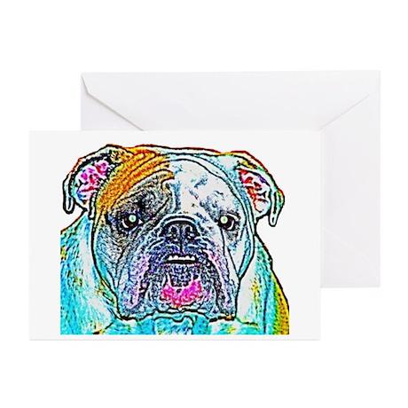 Bulldog in Color Greeting Cards (Pk of 10)