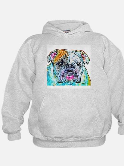 Bulldog in Color Hoodie