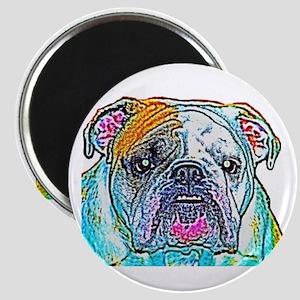 Bulldog in Color Magnet