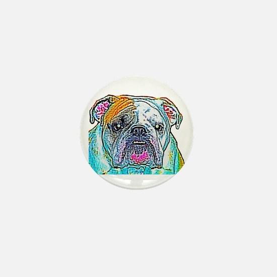 Bulldog in Color Mini Button