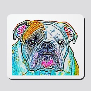 Bulldog in Color Mousepad