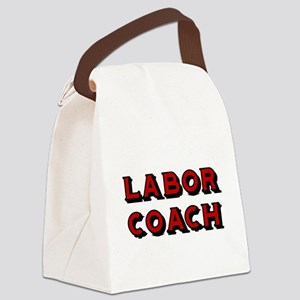 Labor Coach-Red Canvas Lunch Bag