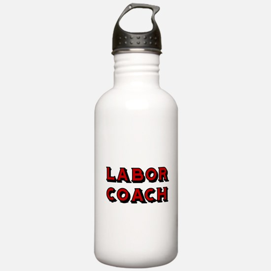 Labor Coach-Red Water Bottle