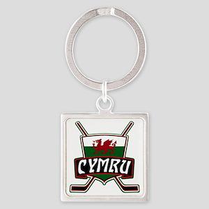 Wales Welsh Ice Hockey Shield Keychains