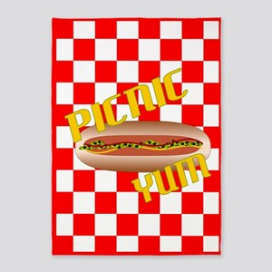 Picnic Hotdog 5'x7'Area Rug