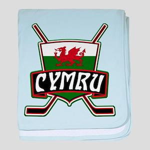 Wales Welsh Ice Hockey Shield baby blanket