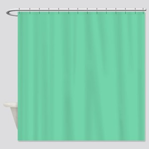 Mint Solid Shower Curtain
