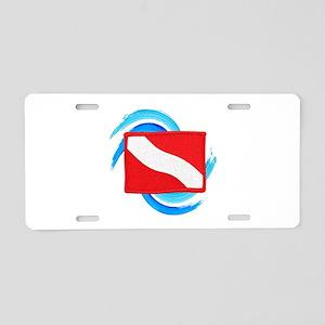 FLAG RAISED Aluminum License Plate