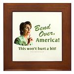 Bend Over (anti-Pelosi) Framed Tile