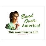 Bend Over (anti-Pelosi) Small Poster
