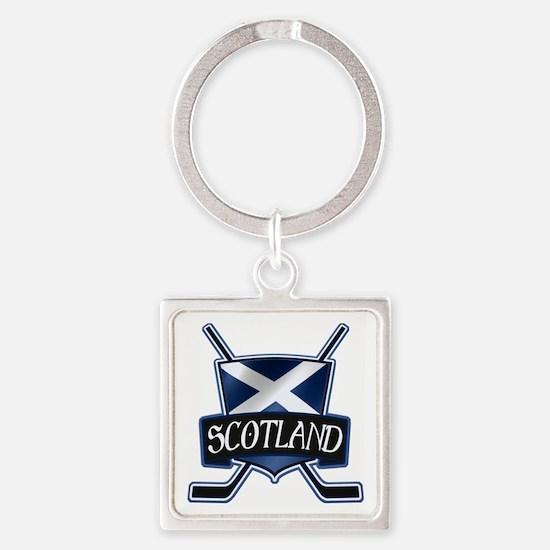 Scottish Scotland Ice Hockey Shield Keychains