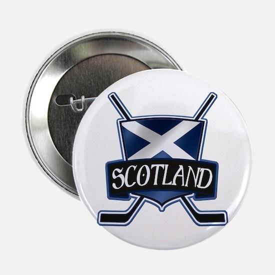 "Scottish Scotland Ice Hockey Shield 2.25"" Button"