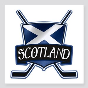 Scottish Scotland Ice Hockey Shield Square Car Mag
