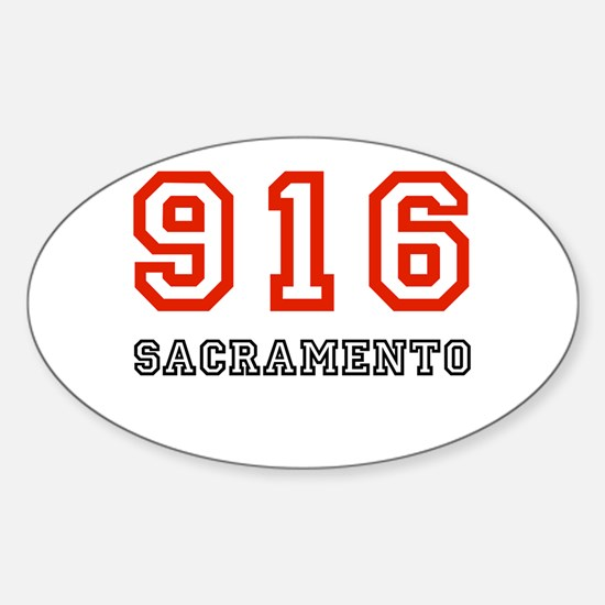 916 Oval Decal