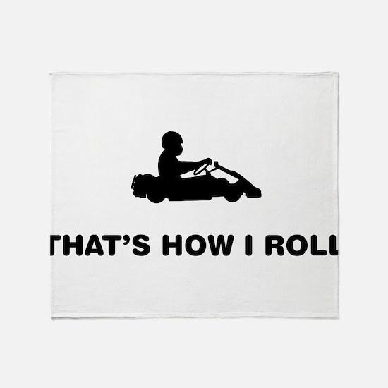 Go-Karting Throw Blanket