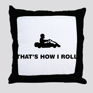 Go-Karting Throw Pillow