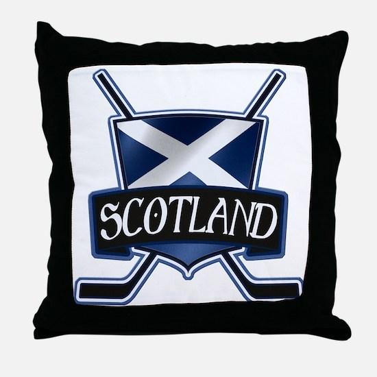 Scottish Scotland Ice Hockey Shield Throw Pillow