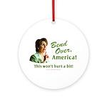 Bend Over (anti-Pelosi) Ornament (Round)