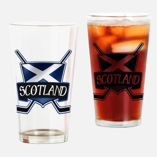 Scottish Scotland Ice Hockey Shield Drinking Glass