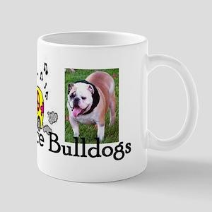 Love, Peace, Bulldogs Mug