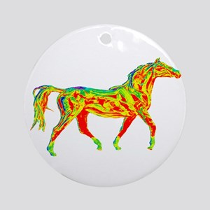 TROT SCALE Round Ornament