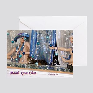 Mardi Gras Chat Greeting Cards (Pk of 10)