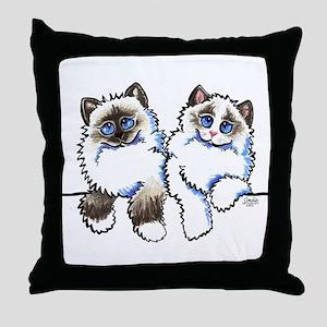 Ragdolls Pair Off-Leash Art™ Throw Pillow