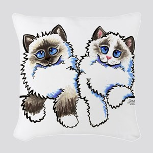Ragdolls Pair Off-Leash Art™ Woven Throw Pillow