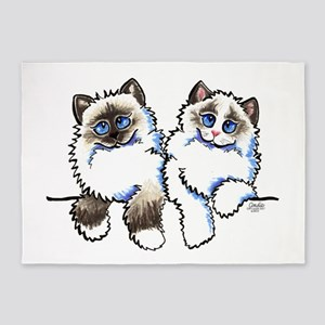 Ragdolls Pair Off-Leash Art™ 5'x7'Area Rug