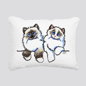 Ragdolls Pair Off-Leash Art™ Rectangular Canvas Pi