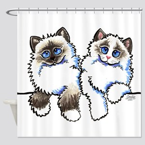 Ragdolls Pair Off-Leash Art™ Shower Curtain