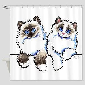 Ragdolls Pair Off-Leash Art™ Shower Curtain