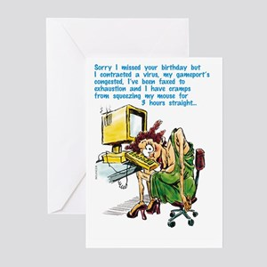 Computer Virus Birthday Greeting Cards (Pk of 10)