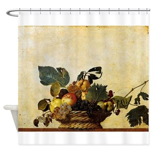 Peach Fruit Shower Curtains