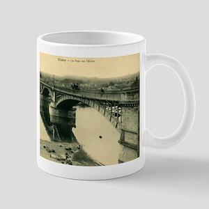 Le Pont sur l'Allier, Vichy France Vintage Mug