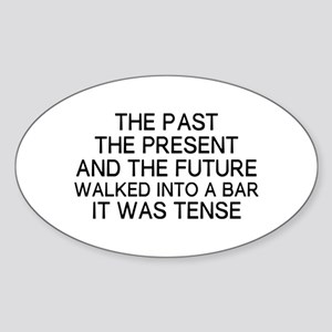 The Past Sticker (Oval)