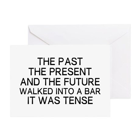 The Tense Greeting Card