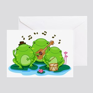 Performing Frogs Greeting Card