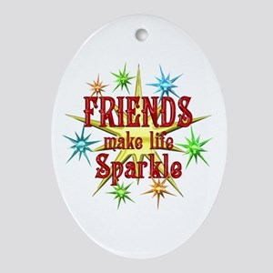 Friends Sparkle Ornament (Oval)
