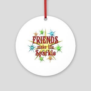 Friends Sparkle Ornament (Round)