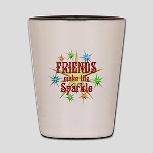 Friends Sparkle Shot Glass
