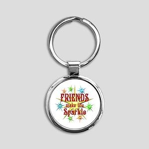 Friends Sparkle Round Keychain