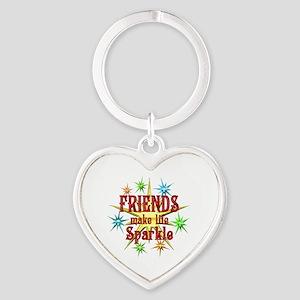 Friends Sparkle Heart Keychain