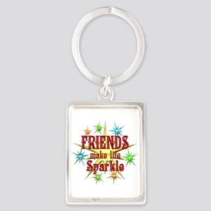 Friends Sparkle Portrait Keychain