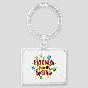Friends Sparkle Landscape Keychain