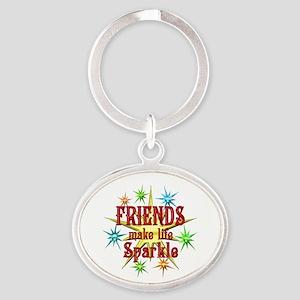 Friends Sparkle Oval Keychain