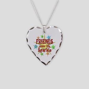 Friends Sparkle Necklace Heart Charm