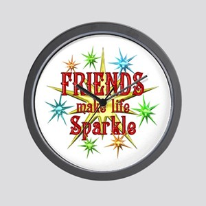 Friends Sparkle Wall Clock