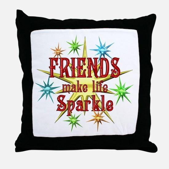 Friends Sparkle Throw Pillow